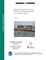 October 2011). Regulatory Response to Sea Level Rise and Storm Surge Inundation, City of Annapolis, MD.