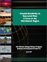 CCSP. (2009). Coastal sensitivity to sea-level rise: A focus on the mid-Atlantic region. A report by the U.S. Climate Change Science Program and the Subcommittee on Global Change Research. [James G. Titus (Coordinating Lead Author), K. Eric Anderson, Donald R. Cahoon, Dean B. Gesch, Stephen K. Gill, Benjamin T. Gutierrez, E. Robert Thieler, and S. Jeffress Williams (Lead Authors)] U.S. Environmental Protection Agency, Washington, D.C.
